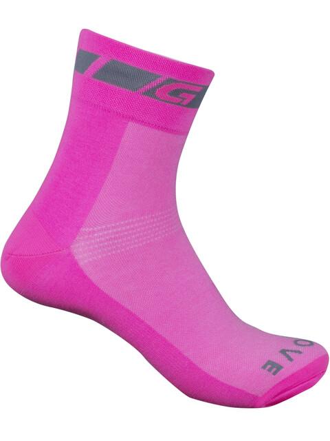 GripGrab Hi-Vis Regular Cut Socks pink hi-vis
